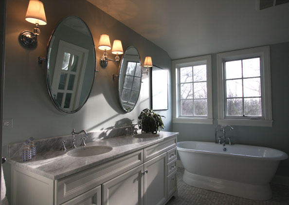 Classic master bathroom chicago home remodeling for Classic master bathrooms